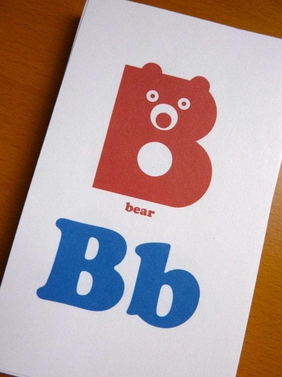 blue  u0026 red animal alphabet flash cards 3x5 printable pdf