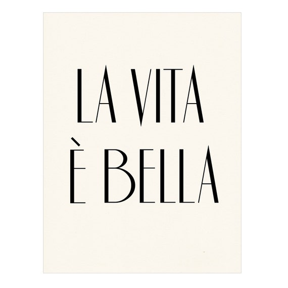 Items similar to la vita bella italian poster print for The bella vita