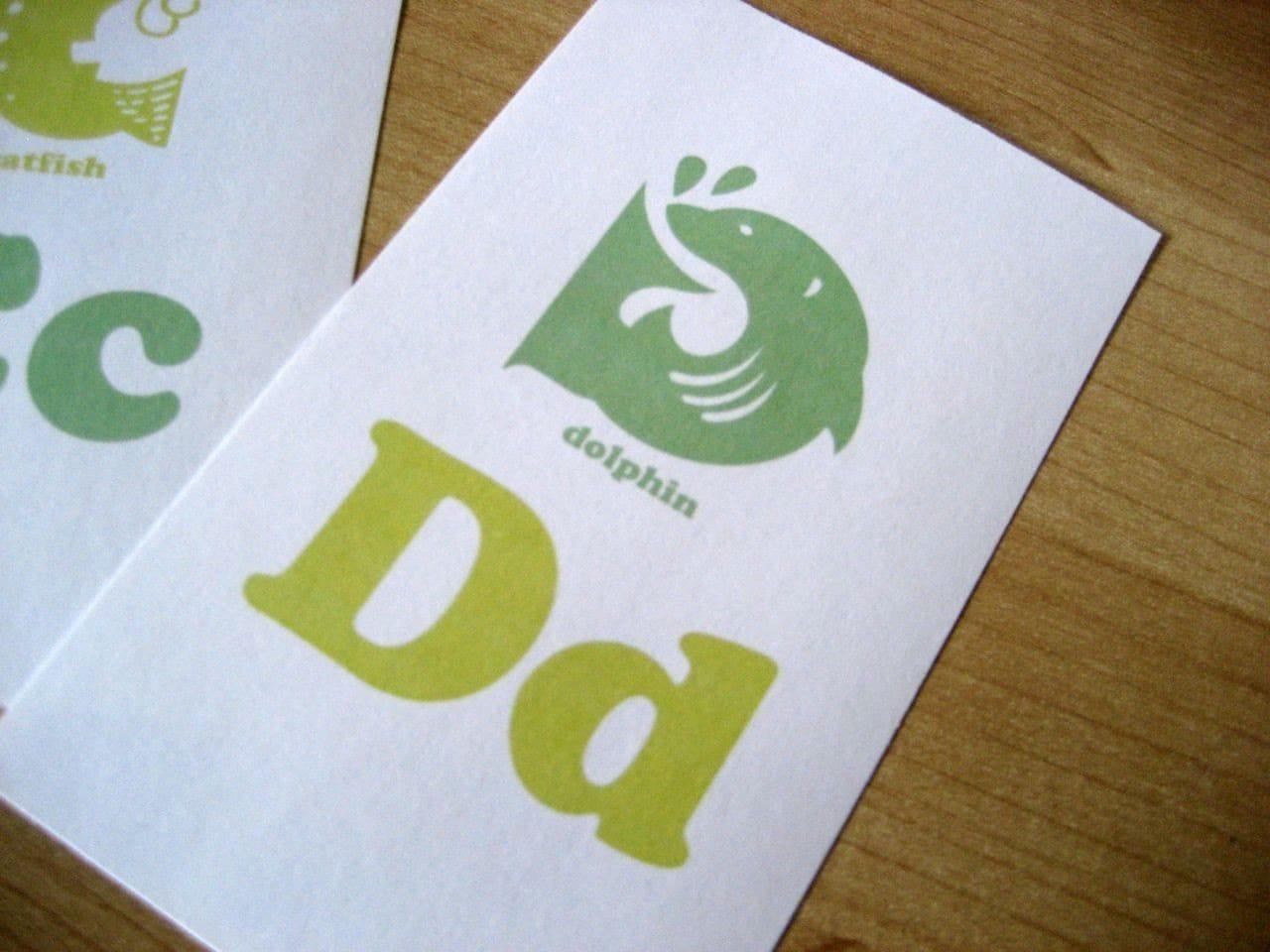 animal alphabet flash cards 3x5 printable pdf green light