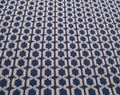 Vintage Blue and White Print Polyester Fabric
