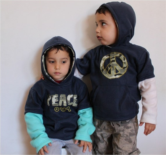 Peace Out Hoodie - 2T-6T PDF pattern & tutorial. Funky, Comfy, and Cool
