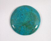 Chysocolla Cabochon in the Round