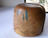 Arizona mesquite wood bookends with  turquoise inlay, for books, cds, dvds, magazines..