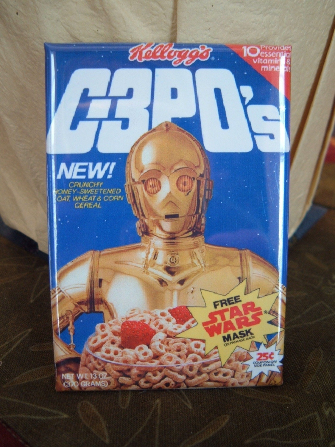 Vintage Style C3po S Star Wars Cereal Box Magnet New