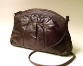 vintage Letisse Dark Chocolate Brown Leather Purse