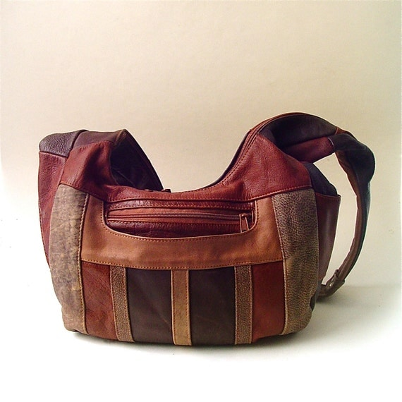 Slouchy vintage Large Patchwork Leather Purse