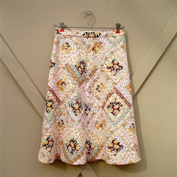 70s vintage Quilted Patchwork Skirt