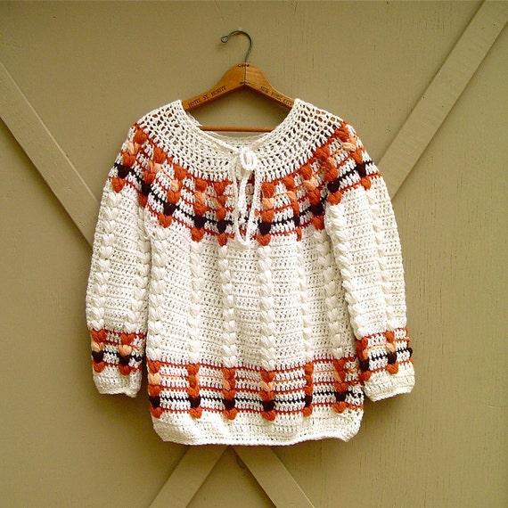 70s vintage Chunky Knit Earthy Boho Sweater