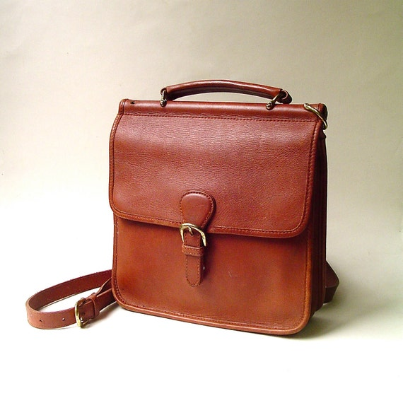vintage Hunt Club Russet Brown Leather Station Bag