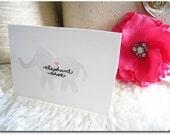 ELEPHANT SHOE (I Love You) - Hand-embroidered / Hand-Painted Card
