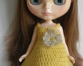 Hand Crocheted Slip Dress for Blythe - Banoffee