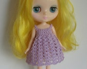 Lilac Hand Crocheted Dress for Middie Blythe
