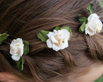 Handcrafted Rose Hair Pins