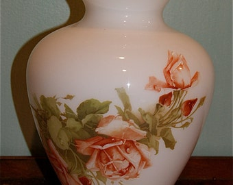 Handpainted Vase with Roses