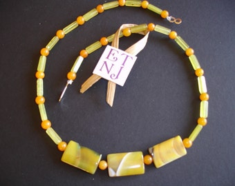 18 inch Yellow Natural Stone Necklace
