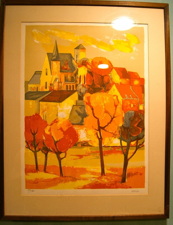 SALE  Elaine Thiollier Signed Lithograph