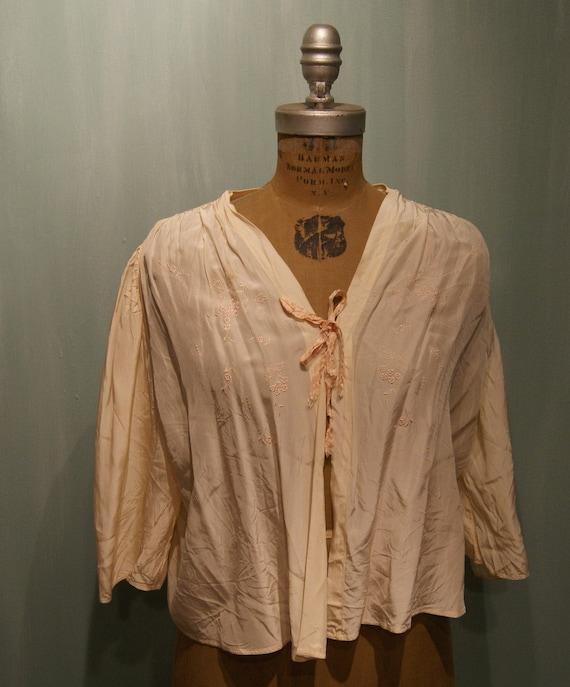 Vintage Satin Bed Jacket