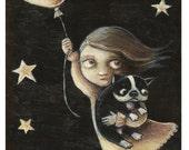 Boston Balloon Escape  -- Art Print