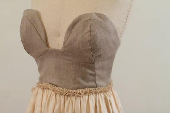 Princess Buttercup Strapless Party Dress
