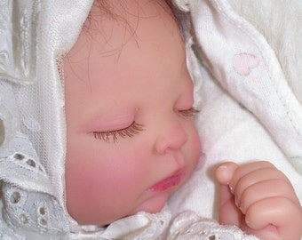 Tiny Preemie in Christening Gown