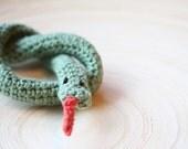 Knitted snake.