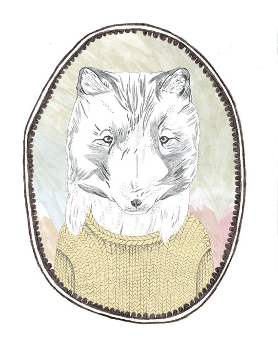 ARCTIC FOX temporary tattoo