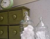 Glass Bathroom Jars