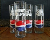 Vintage Pepsi Drinking Glasses, Collectors Item,