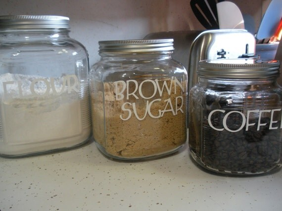 items similar to kitchen storage canisters vintage style