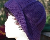 Hyacinth Bucket Hat - Knitting Pattern - One piece top down - pdf delivery