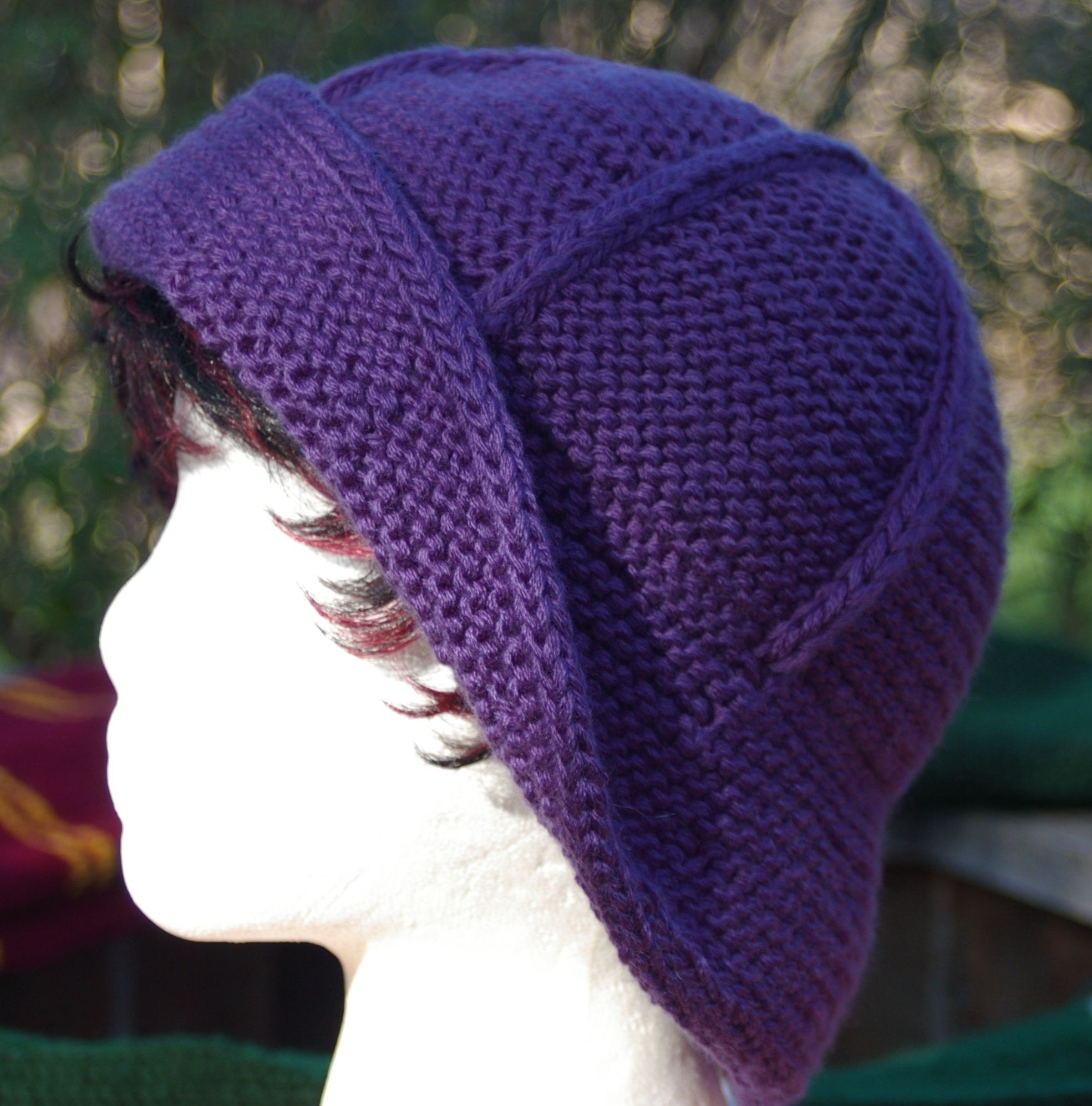 Knitting Pattern Hat Top Down : Hyacinth Bucket Hat Knitting Pattern One piece top by garilynn