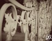 Airlie Gardens Gate, Sepia - 8x10 Print