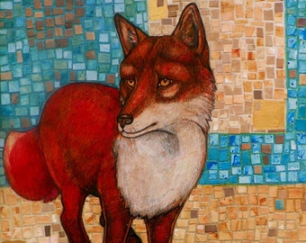 Red Fox Animal Art Print by Lynnette Shelley