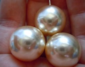 Champagne One Hole Beads - Topaz - Vintage Japanese Lucite - elp233