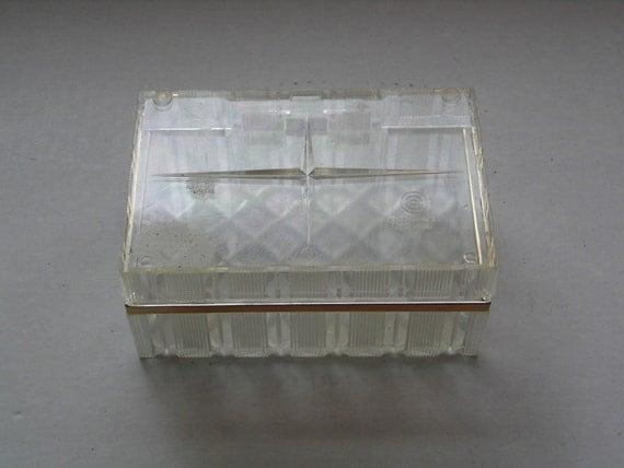 Vintage Clear Plastic Box