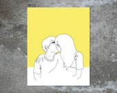 MAKE OUT CITY (in yellow) 8x10 archival print