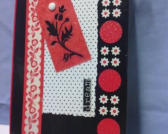 Black Red Retro Mini Notebook