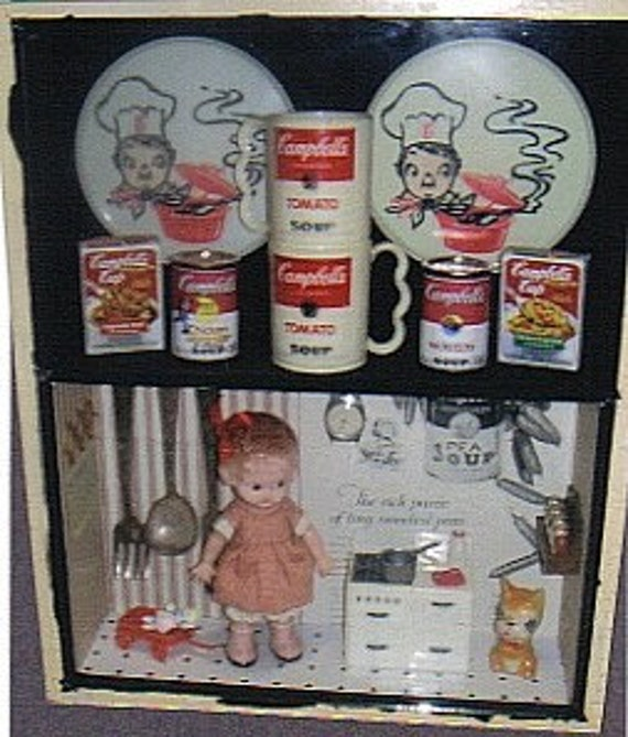 Vintage Campbell Soup Collection Shadowbox