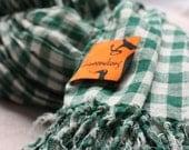 Plaid poplin scarf(Green)