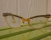 Vintage Bi-Focal Glasses w\/ Case