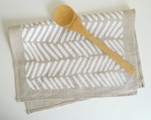 Linen Chevron Tea Towel