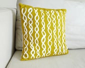 Sunflower DNA Pillow - Mustard Yellow Cushion