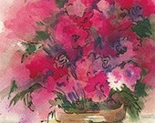 POT OF PINKS - Note Card