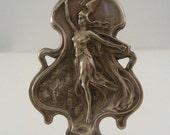 Art Nouveau - Vintage Pendant - Brass Pendant - Large for Necklace Goddess Pendant
