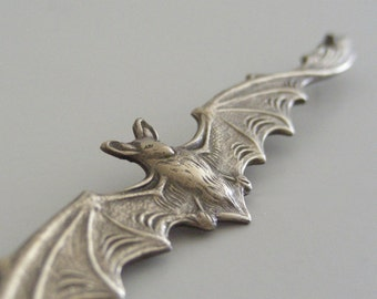 Bat Pendant Vintage Vampire Bat Pendant Brass Large for Necklace