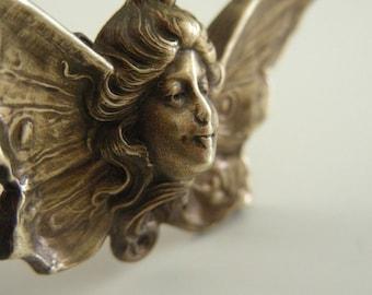 Vintage Pendant - Woodland Fairy Pendant - Vintage Brass - Large Pendant - DIY Necklace