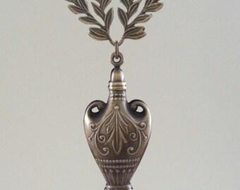 Vessel Vase PENDANT - Vintage Brass - Large for Necklace - Handmade