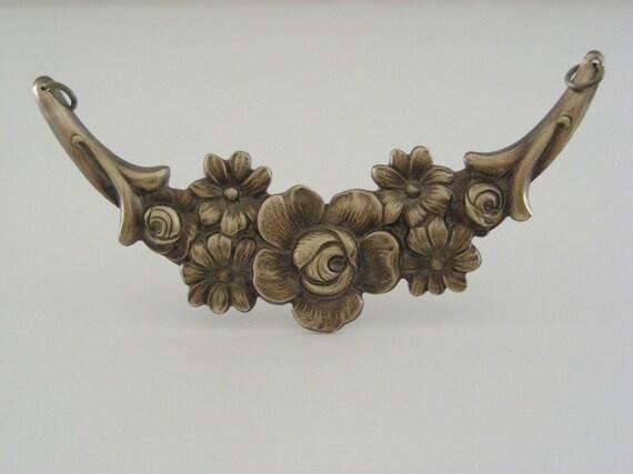 Pendant VICTORIAN Flower Vintage Brass for Necklace