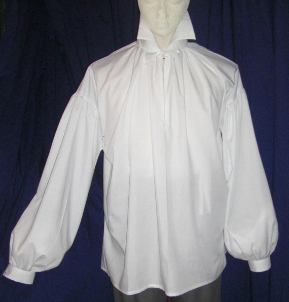 Mens Regency/ DARCY  High Neck Cotton Dress Shirt with button cuff.