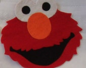 SALE Set of SIX DIY Sesame Street Inspired  Iron On No Sew Appliques Elmo, Big Bird, Bert, Cookie Monster and Oscar and Zoe